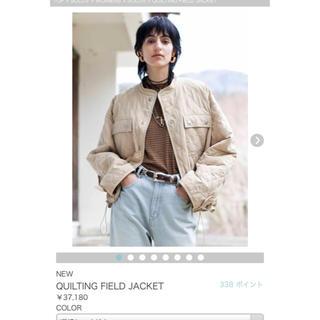 ハイク(HYKE)のsolov キルティングジャケット 完売品 新品タグ付き37800円(ダウンジャケット)