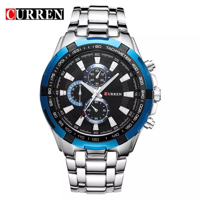 ドルガバ tシャツ スーパーコピー時計 - 【カレン】ビジネス腕時計 シルバーブルーの通販 by こまねこさん's shop