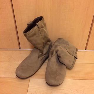 ムジルシリョウヒン(MUJI (無印良品))の無印 外スエード中モコモコブーツMサイズ(ブーツ)