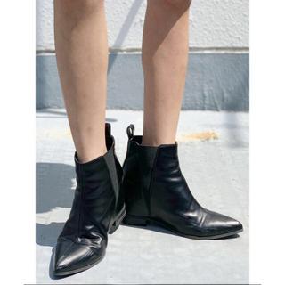 ジェイダ(GYDA)のGYDA サイドゴアブーツ 今季 新品未使用 ブラック(ブーツ)
