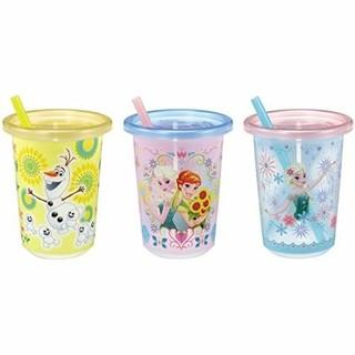 アナトユキノジョオウ(アナと雪の女王)のアナと雪の女王 ストローカップ 3個セット(グラス/カップ)