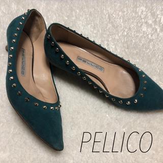 ペリーコ(PELLICO)の【pellico】スタッズ スエードヒール 35(ハイヒール/パンプス)