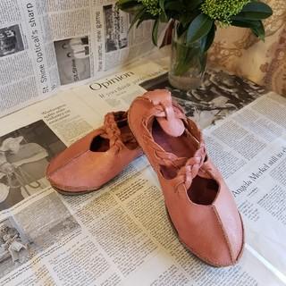 トリッペン(trippen)のtrippen トリッペン ピンク レザーシューズ(ローファー/革靴)