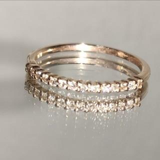 ダイヤモンド18金リング(リング(指輪))