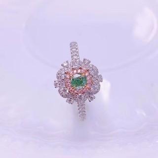 ♡素敵なグリーンダイヤモンドリング(リング(指輪))