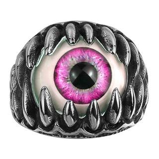 ピンク 義眼 モンスターアイ 指輪 リング(リング(指輪))
