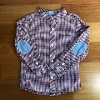 プチバトー(PETIT BATEAU)のプチバトー チェック長袖シャツ 4ans(ブラウス)