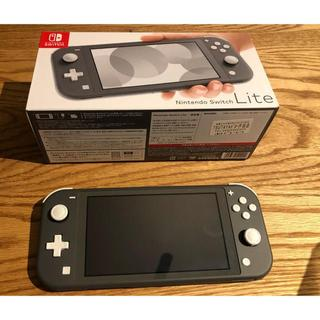ニンテンドー Nintendo Switch LITE グレー 美品(携帯用ゲーム機本体)