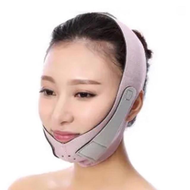マスク 息苦しく ない / 【新品未使用】小顔リフトアップベルト 小顔マスク 小顔矯正 ピンクの通販