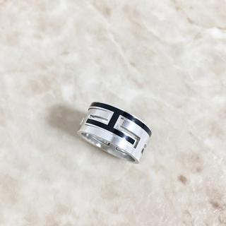 エルメス(Hermes)の正規品 エルメス 指輪 ムーブアッシュ シルバー ブラック SV925 リング(リング(指輪))