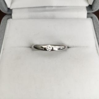 シチズン(CITIZEN)のシチズン サムシングブルー ダイヤモンドリング Pt1000 3mm 5.0g(リング(指輪))
