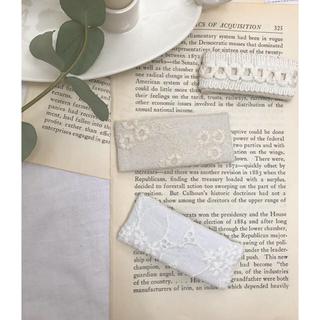 ボンポワン(Bonpoint)のホワイトカラー 刺繍ヘアピン スクエアピン  刺繍 ヘアクリップ アンティーク(ヘアピン)