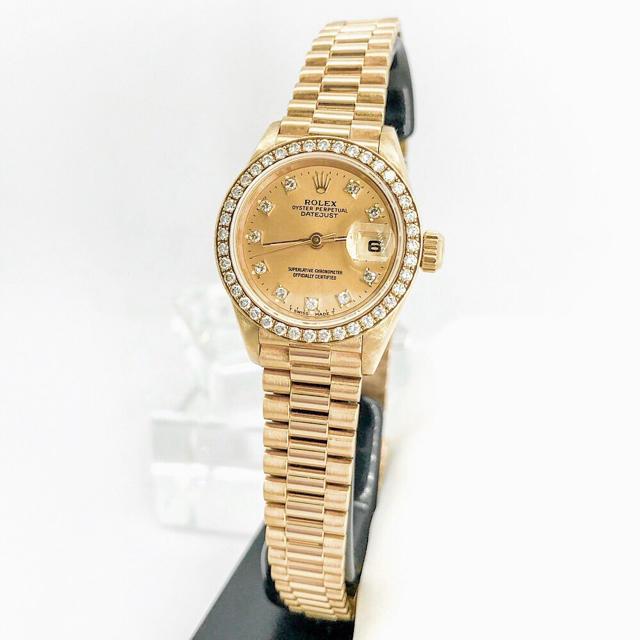 ディープ ブルー ロレックス 、 ROLEX - 【仕上済】ロレックス 10P ベゼル純正ダイヤ 金無垢 レディース 腕時計の通販 by LMC
