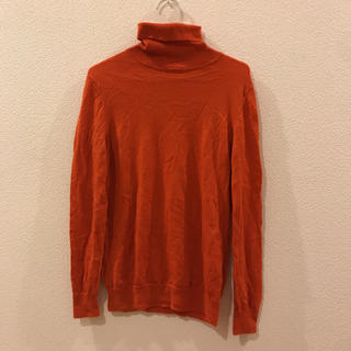 ユニクロ(UNIQLO)の●UNIQLO●レディース XL●オレンジ●タートルネックセーター(ニット/セーター)