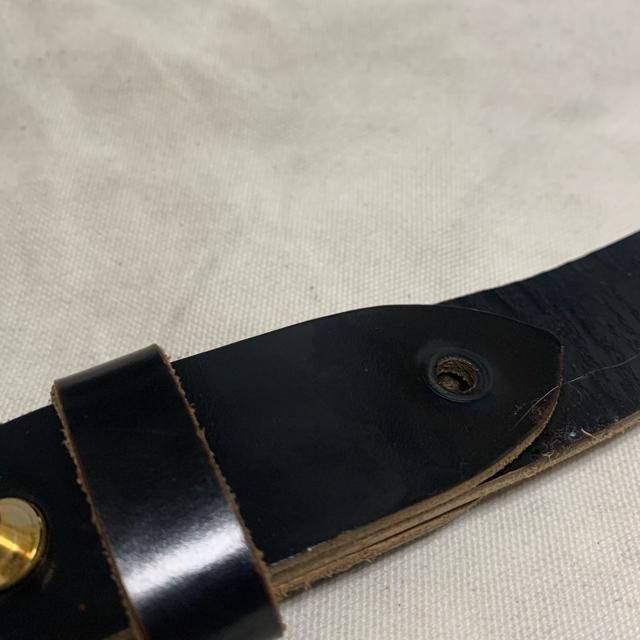 SUNSEA(サンシー)のSUNSEA 18ss LEATHER BELT GLASS BLACK メンズのファッション小物(ベルト)の商品写真