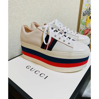 グッチ(Gucci)の■期間限定お値下げ■GUCCIグッチプラットフォームスニーカー39新品(スニーカー)