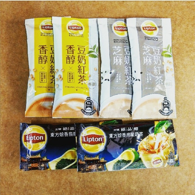 Unilever(ユニリーバ)の台湾リプトン東方美人茶/豆乳紅茶/豆乳胡麻紅茶インスタントティー 食品/飲料/酒の飲料(茶)の商品写真