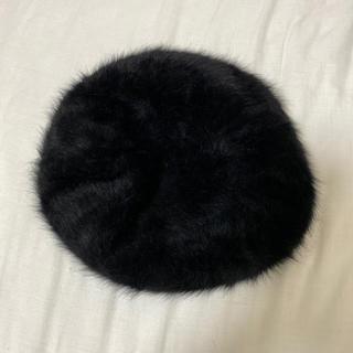 スピンズ(SPINNS)のスピンズ ベレー帽 ブラック(ハンチング/ベレー帽)