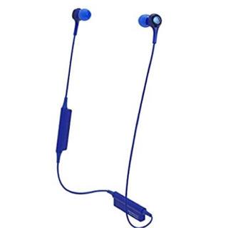 オーディオテクニカ(audio-technica)の【新品未使用】Audio-Technica  ワイヤレスヘッドホン  ブルー(ヘッドフォン/イヤフォン)