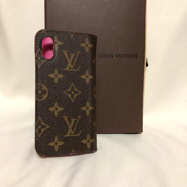 LOUIS VUITTON - ☆正規品☆ヴィトン☆モノグラム iPhone X カバー ピンク 携帯の通販