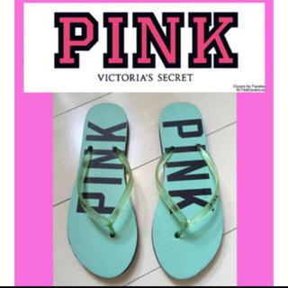 ヴィクトリアズシークレット(Victoria's Secret)の新品未使用 Victoria's Secret PINK ビーチサンダル❸(ビーチサンダル)