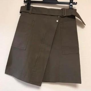 マカフィー(MACPHEE)の【美品】Tomorrowland MACPHEE ベルト付きスカート(ミニスカート)