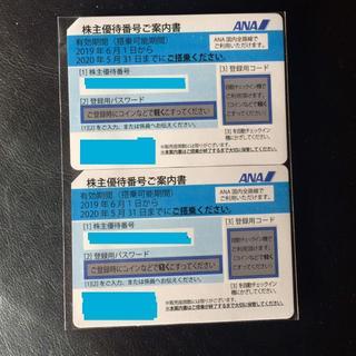 エーエヌエー(ゼンニッポンクウユ)(ANA(全日本空輸))のANA 2枚 株主優待券(航空券)