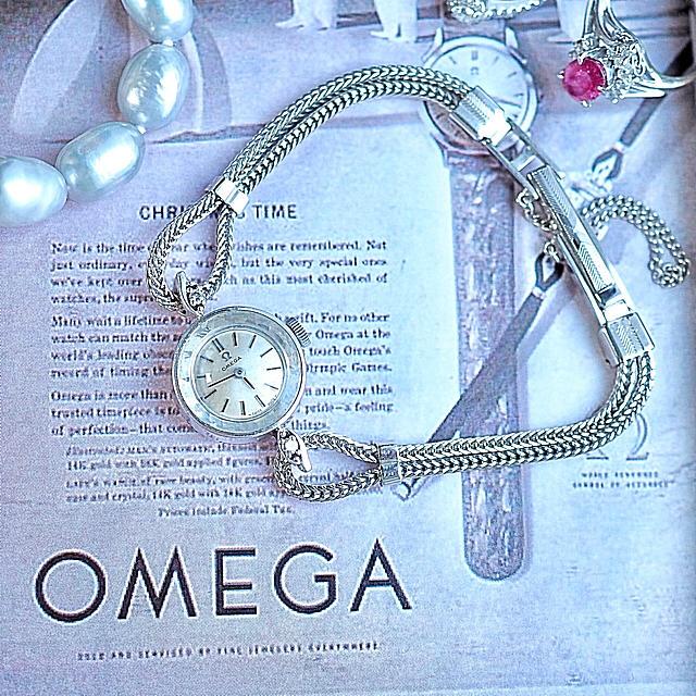タグ ホイヤー 36mm - OMEGA - 美品✨オメガ プラチナ ダイヤ付きカットガラス✨トゥモローランド ロレックス の通販 by Plumage❤︎antique watch