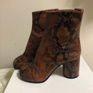 マルタンマルジェラ(Maison Martin Margiela)のマルジェラ 足袋 ブーツ 38 ユナイテッドアローズ 別注 ブラウン系のパイソン(ブーツ)