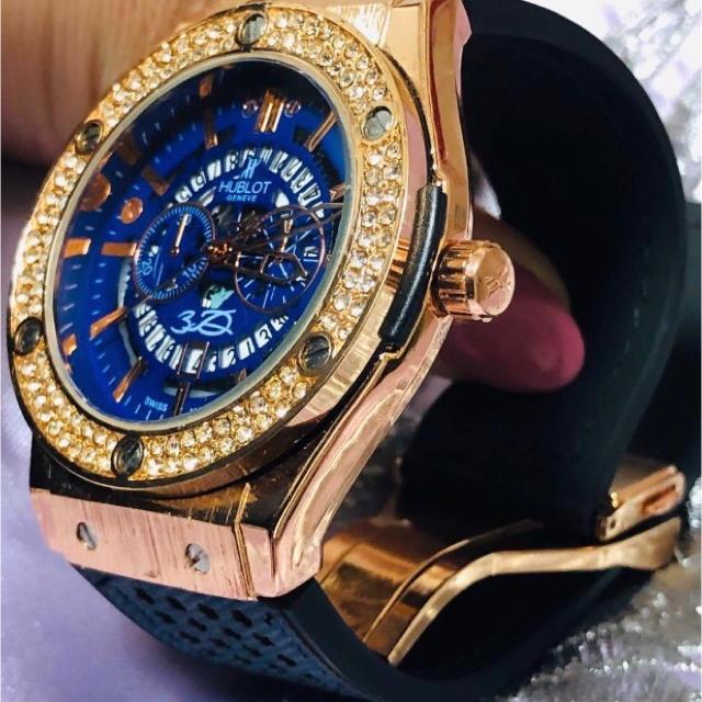 IWC 時計 スーパー コピー 正規取扱店 / HUBLOT - HUBLOT ウブロ BIGBAN ビックバン GOLD×BLUE 腕時計の通販 by テルユキ's shop