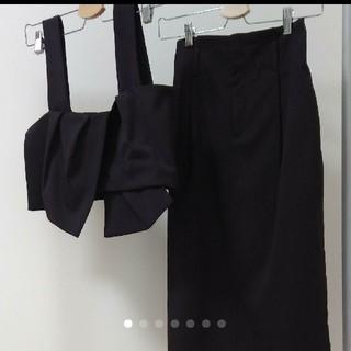 ケービーエフ(KBF)のフロントタイビスチェ×タックタイトスカート(その他)