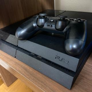 プレイステーション4(PlayStation4)の(美品)PlayStation®4 ジェット・ブラック 500GB (家庭用ゲーム機本体)