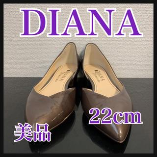 ダイアナ(DIANA)のDIANA  ダイアナ パンプス ブラウン エナメル 22cm(ハイヒール/パンプス)