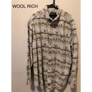 ウールリッチ(WOOLRICH)のWOOL RICH フィッシング柄 シャツ 柄シャツ オーバーサイズ(シャツ)