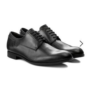 エンポリオアルマーニ(Emporio Armani)の【新品未使用】EMPORIO ARMANI エンポリオ アルマーニ 革靴 黒(ドレス/ビジネス)