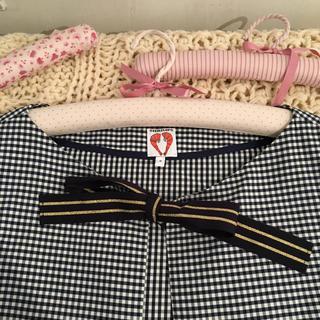 エディットフォールル(EDIT.FOR LULU)のshrimps check ribbon coat.(ノーカラージャケット)