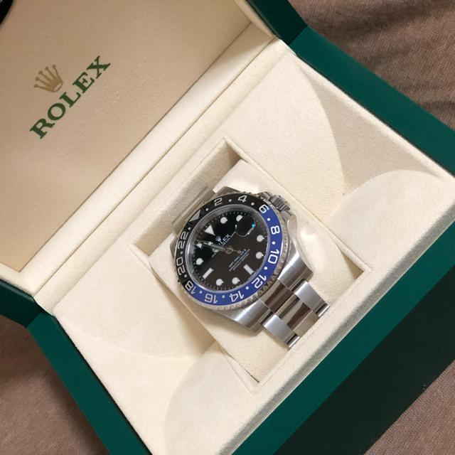 ロレックス 時計 ブルー - ROLEX - ROLEX GMTマスターの通販 by コウヘイ's shop