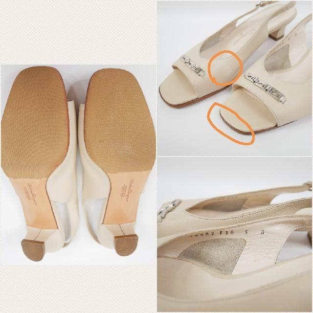 Salvatore Ferragamo(サルヴァトーレフェラガモ)のSalvatore Ferragamo  フェラガモ 6 1/2D サンダル レディースの靴/シューズ(サンダル)の商品写真
