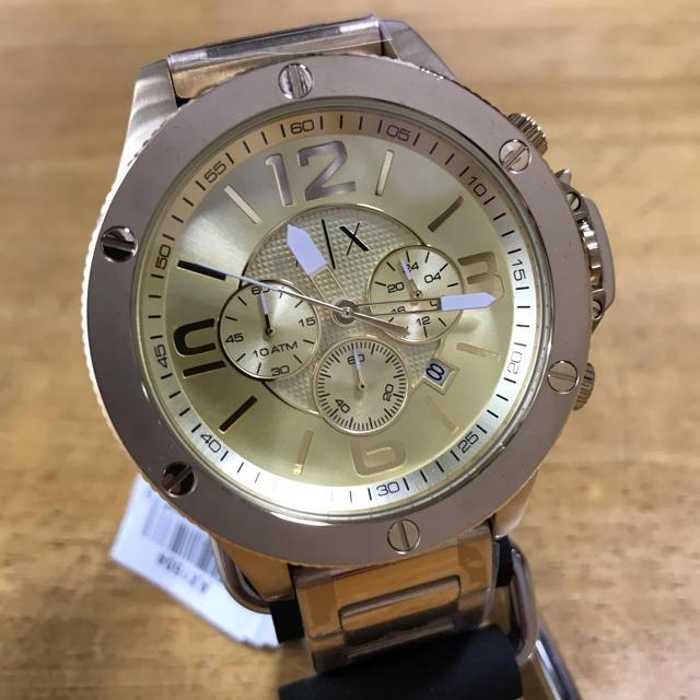 ウブロ コピー 自動巻き / ARMANI EXCHANGE - 新品✨アルマーニエクスチェンジ クロノグラフ 腕時計 AX1504 ゴールドの通販 by てっちゃん(´∀`)