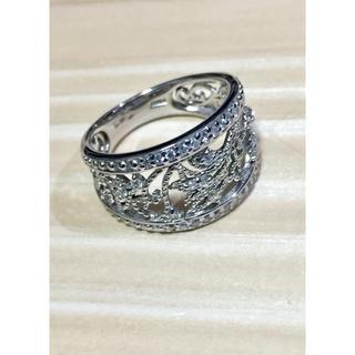 プラチナ 透かし模様 ダイヤリング(リング(指輪))