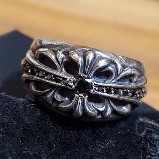 クロムハーツ(Chrome Hearts)のクロムハーツ ブラックダイヤパブェ リング(リング(指輪))
