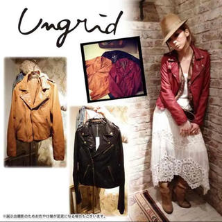 Ungrid - ungrid / 吉田怜香さん着用 / 牛革 レザーライダースジャケット
