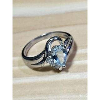 プラチナ850 アクアマリンリング(リング(指輪))