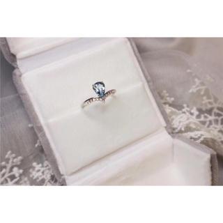 アクアマリン ダイヤモンド リング k18 新品(リング(指輪))