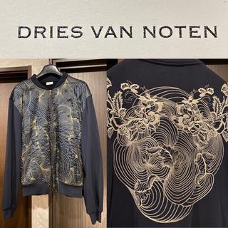 ドリスヴァンノッテン(DRIES VAN NOTEN)の【極美品】Dries Van Noten ハンドメイド刺繍入りボンバージャケット(ブルゾン)
