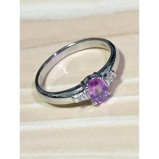 プラチナ850 ピンクサファイアリング(リング(指輪))