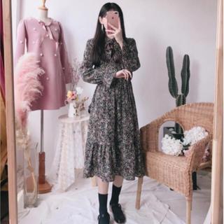 スタイルナンダ(STYLENANDA)の韓国 花柄 ワンピース(ロングワンピース/マキシワンピース)
