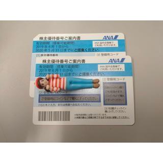 ANA株主優待券2枚セット(航空券)