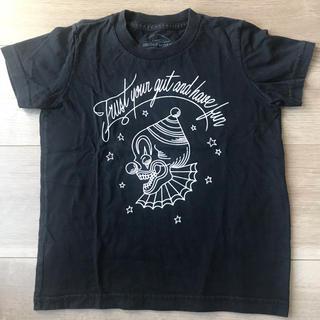 アナザーヘブン(ANOTHER HEAVEN)のANOTHER HEAVEN ブラックTシャツ 100cm(4ans)(Tシャツ/カットソー)