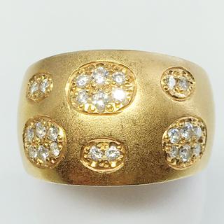 値下げ‼️K18 ゴールド ダイヤモンド リング 指輪 贈物 綺麗 贈物 豪華(リング(指輪))